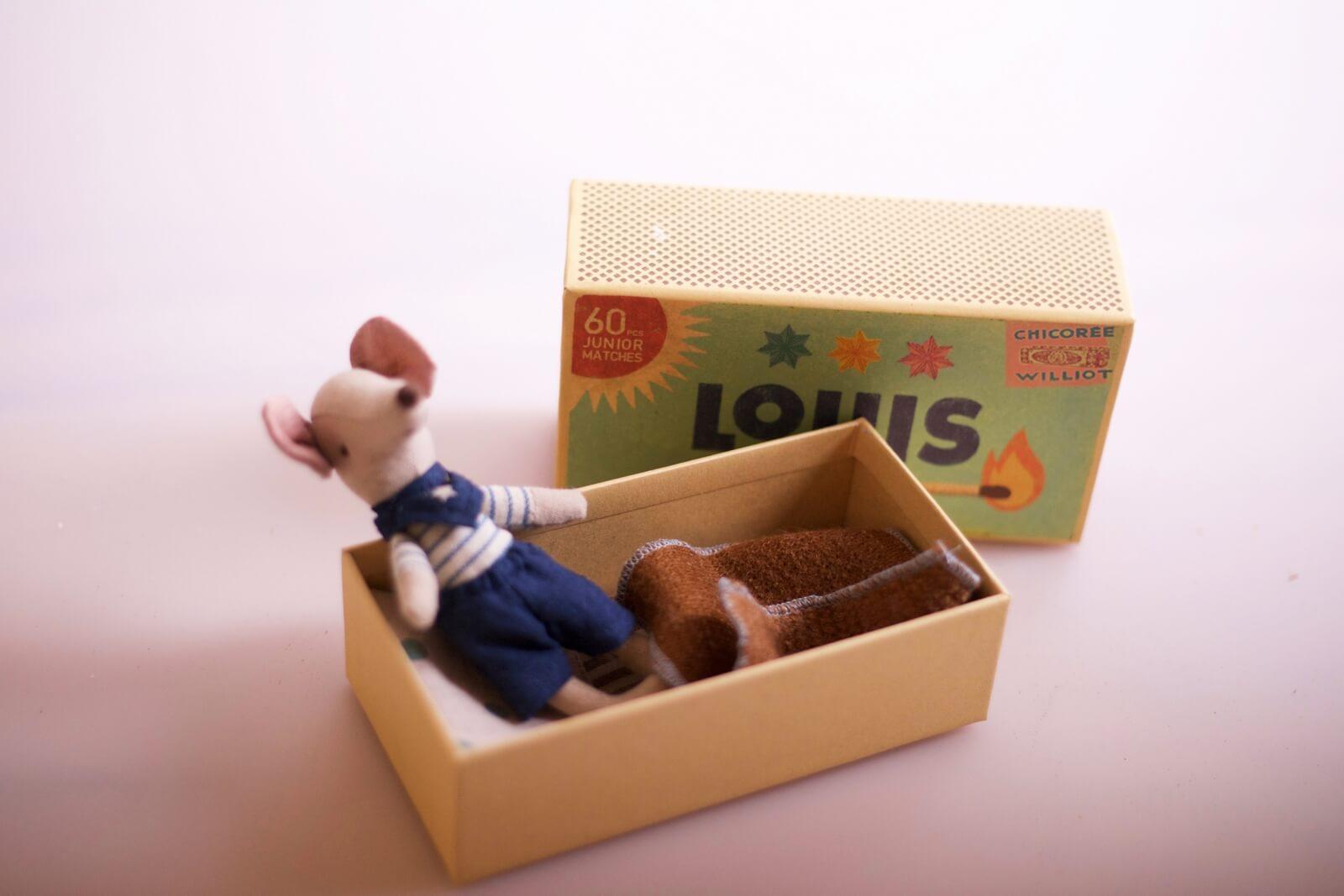Kinderspielzeug Mäuse-Box Luis Maileg