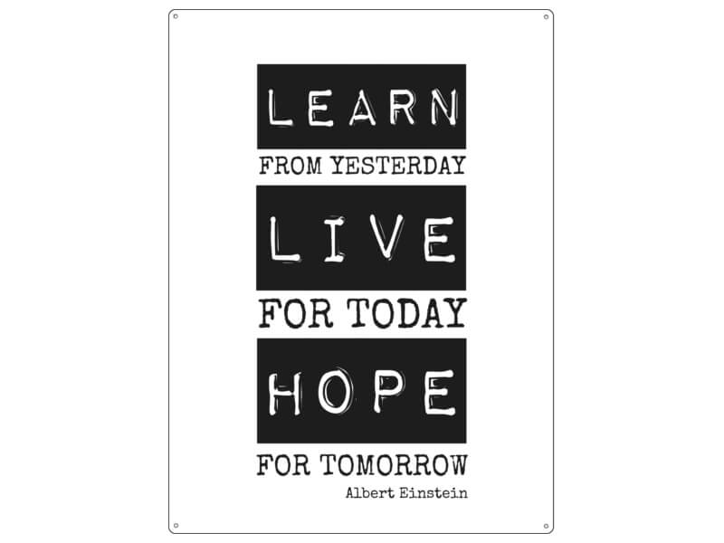 habby Vintage WANDSCHILD LEARN LIVE HOPE