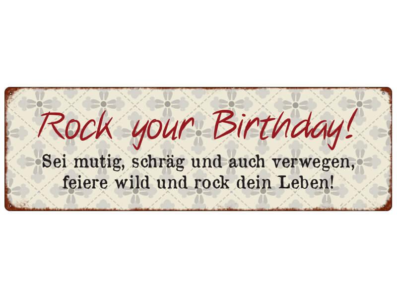 Blechschild ROCK YOUR BIRTHDAY