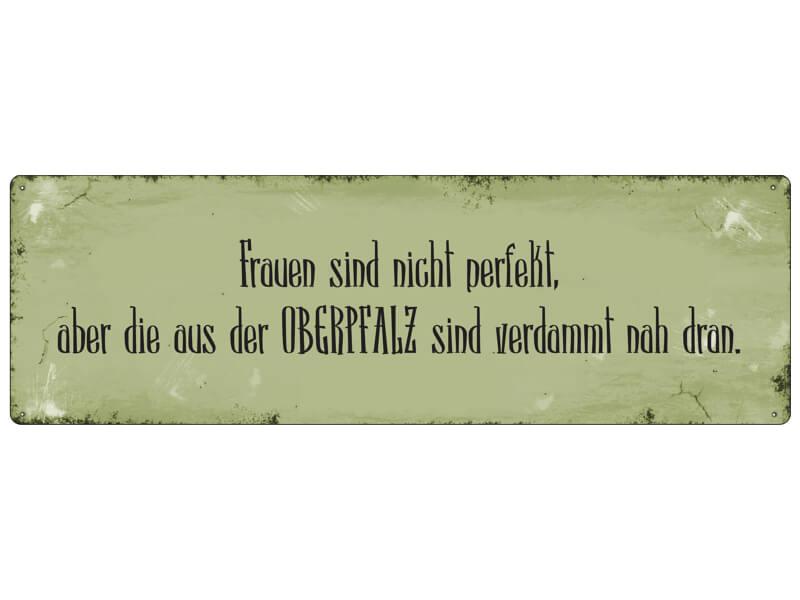 Blechschild Türschild FRAUEN SIND NICHT PERFEKT