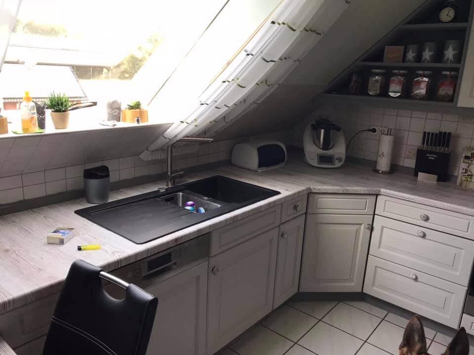 küche renovieren mit Kreidefarbe