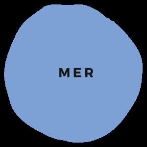 Blaue Kreidefarbe Mer