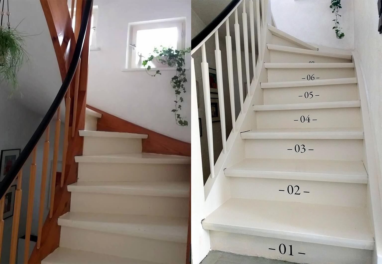 Treppen streichen mit Kreidefarbe   Heimwerkerinnen DIY