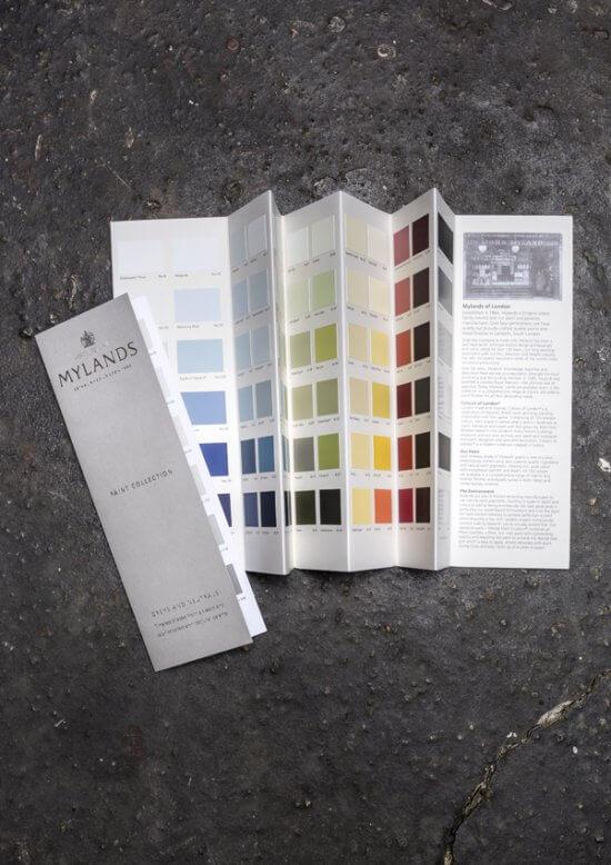 Farbkarten-Mylands-Kreidefarbe