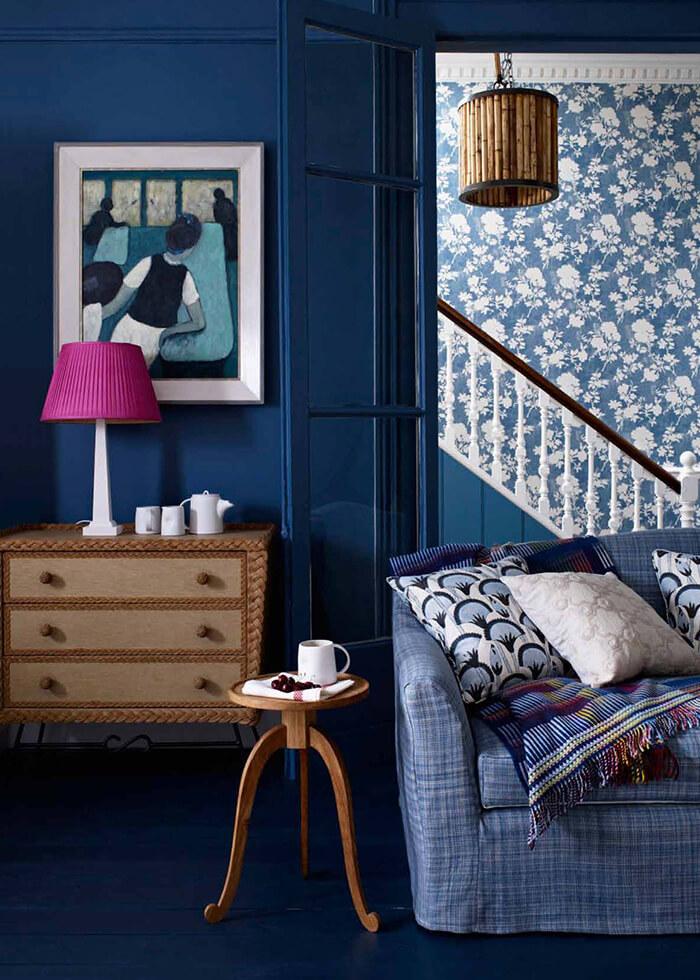 Mylands Wood & Metal Kreidelack Innenraum blau