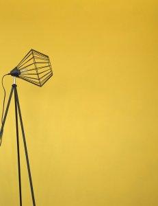 Mylands Wandfarbe Beispiel mit Lampe