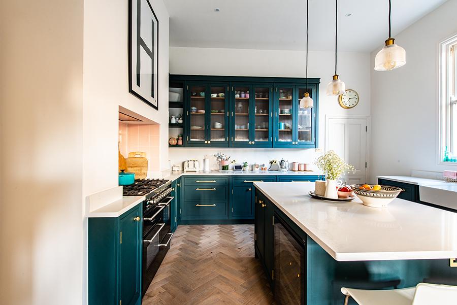 küche gestrichen mit mylands kreidefarbe