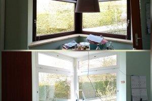 Fensterrahmen mit Kreidelack streichen