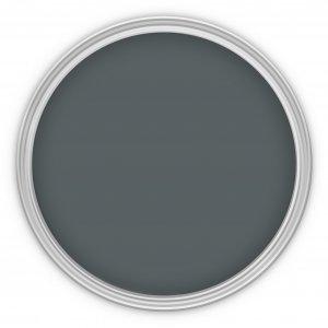MissPompadour Grau mit Schwarz