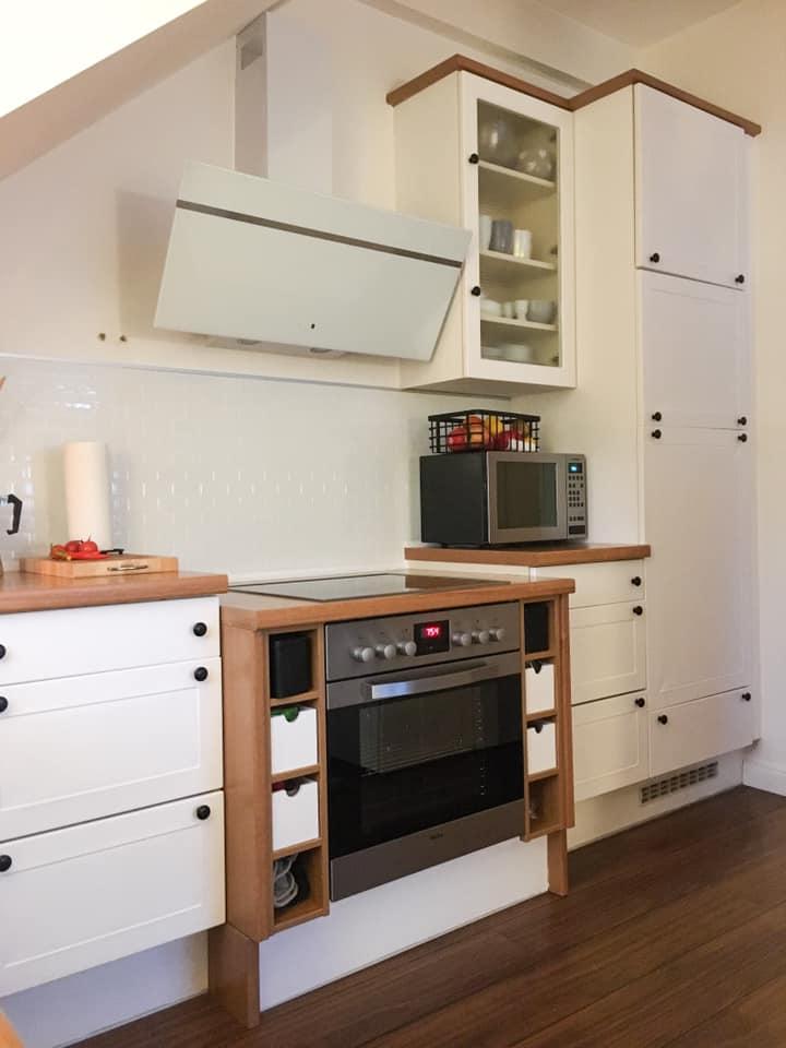 Küche weiß gestrichen mit Mylands Pure White