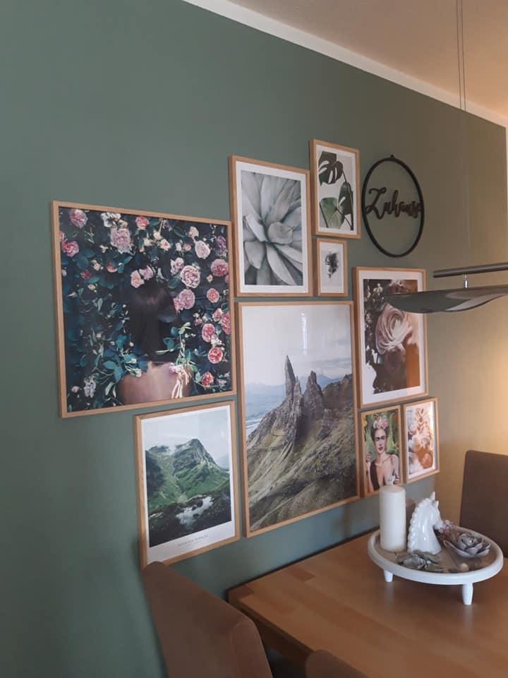 Wand streichen Kundenbild Wohnzimmer mit Mylands Myrtle Green