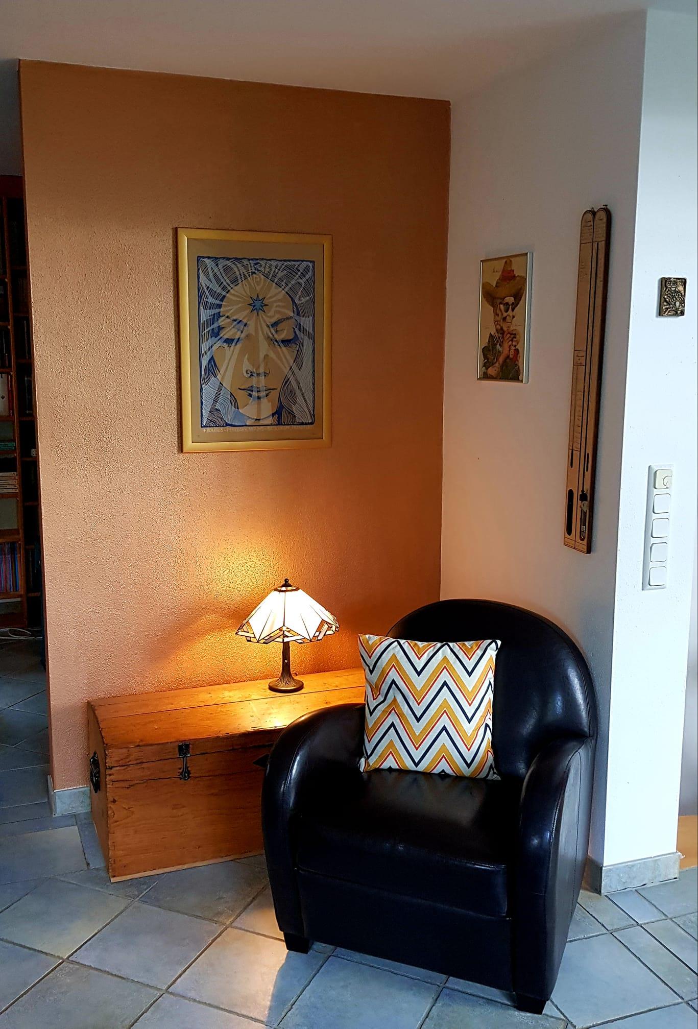 Wand streichen Kundenbild mit Painting the Past Ginger Kreidefarbe