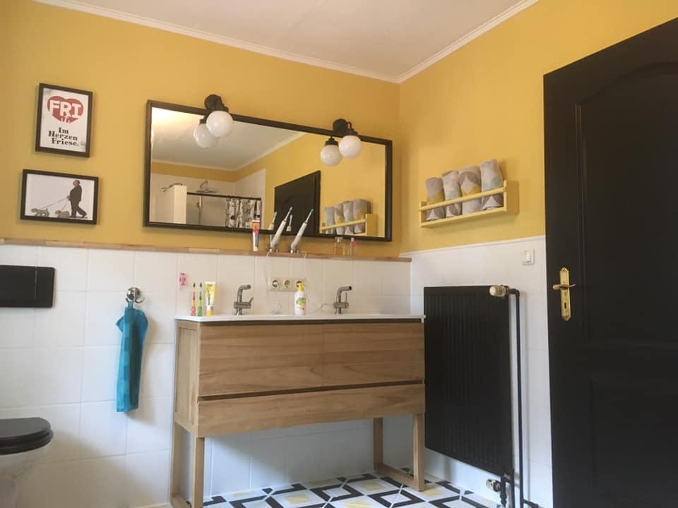 Wand streichen Kundenbild Badezimmer mit Mylands Pimlico