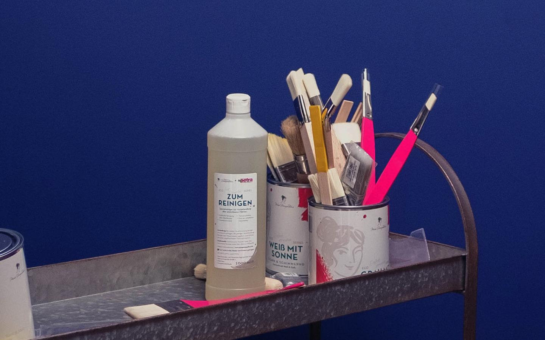 """MissPompadour """"Zum Reinigen"""" - reinige dein Werkstück gründlich vor dem Streichen"""